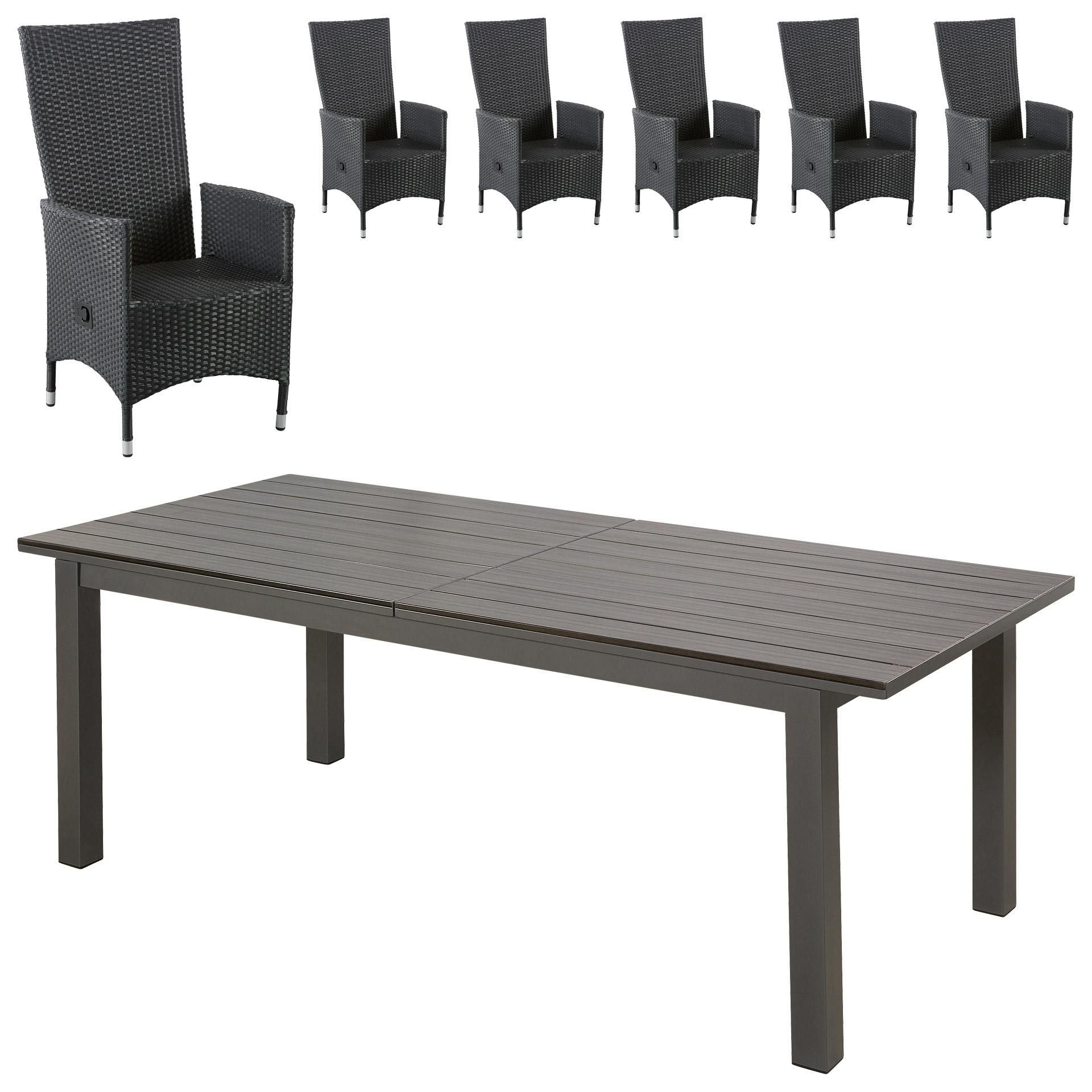 gartenm bel set california rio grande 100 4x226 6 komfortsessel schwarz gro e auswahl. Black Bedroom Furniture Sets. Home Design Ideas