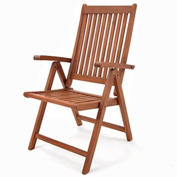 Holz Sitzgruppe Vanamo mit 6 klappbaren Stühlen und ausziehbaren Tisch -