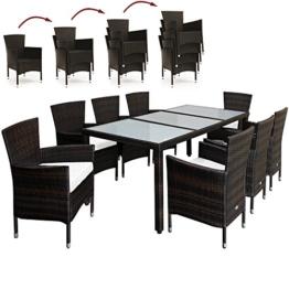 PolyRattan Sitzgruppe 8+1 Gartenmöbel Lounge Sitzgarnitur Gartenset Garten Rattan -